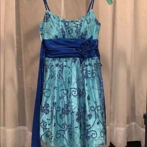 Beata Studios Blue Formal Dress